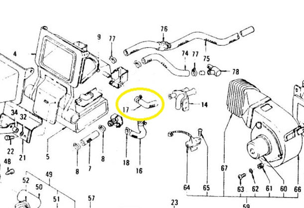 nissan 280zx heater wiring diagram heater coolant hose under dash 260z 280z z car depot inc  heater coolant hose under dash 260z