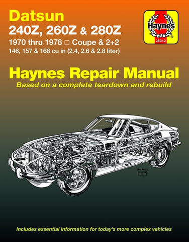 Haynes Repair Manual 240Z 260Z 280Z 70-78