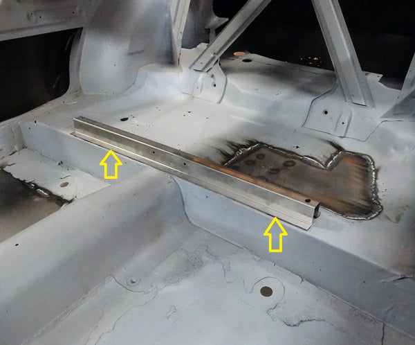Rear Seat Floor Pan Brace Sheet Metal 510