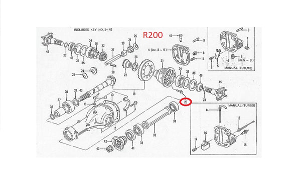 R200 Differential Ring Gear Bolt OEM 280Z