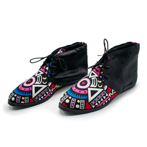 Pink Tribal - boots