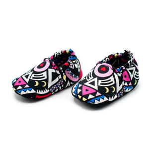 Pink Tribal - Baby Shoes