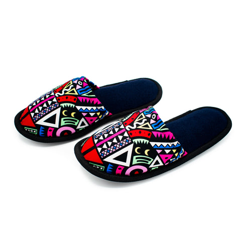 Pink Tribal - Bedroom Slippers