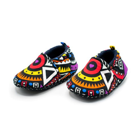 Purple Tribal - Baby Shoes