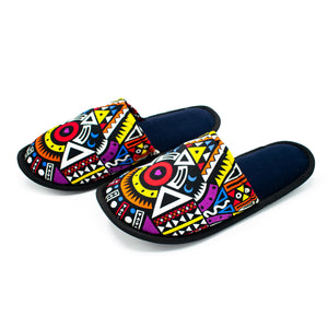 Purple Tribal - Bedroom Slippers