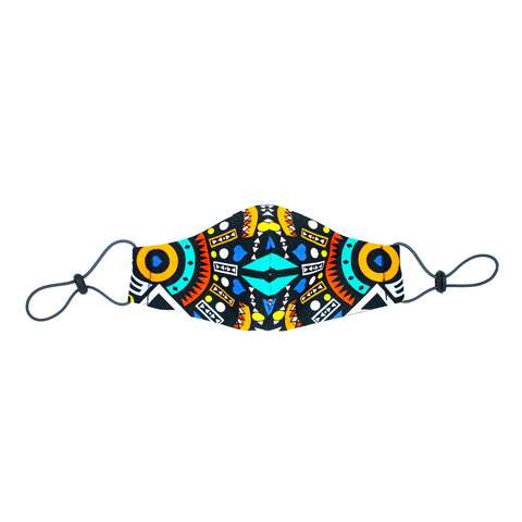Kusini Tribal Face Mask - Blue