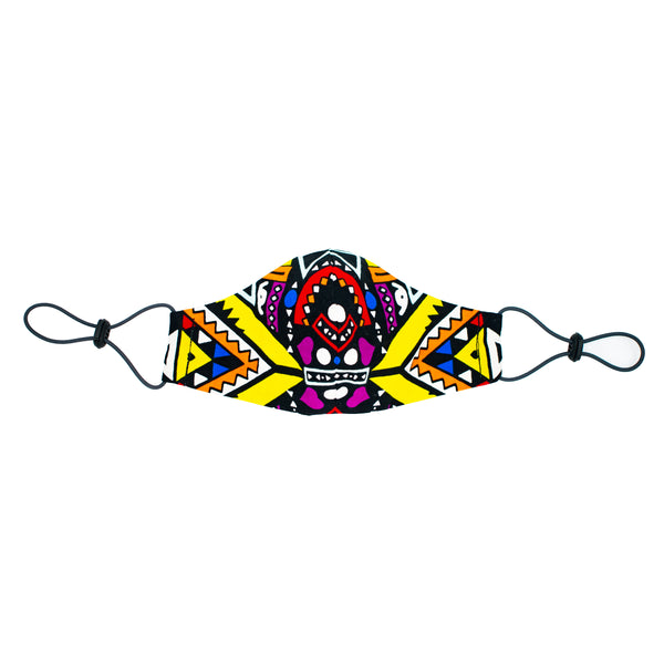 Kusini Tribal Face Mask - Purple