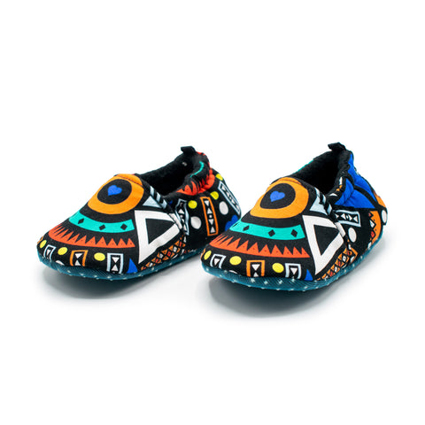 Blue Tribal - Baby Shoes
