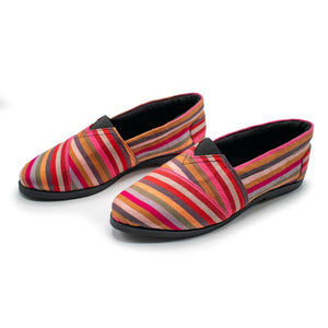 Pink/Red Kikoy - Slip On