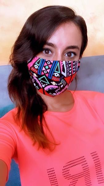 Kusini Tribal Face Mask - Pink
