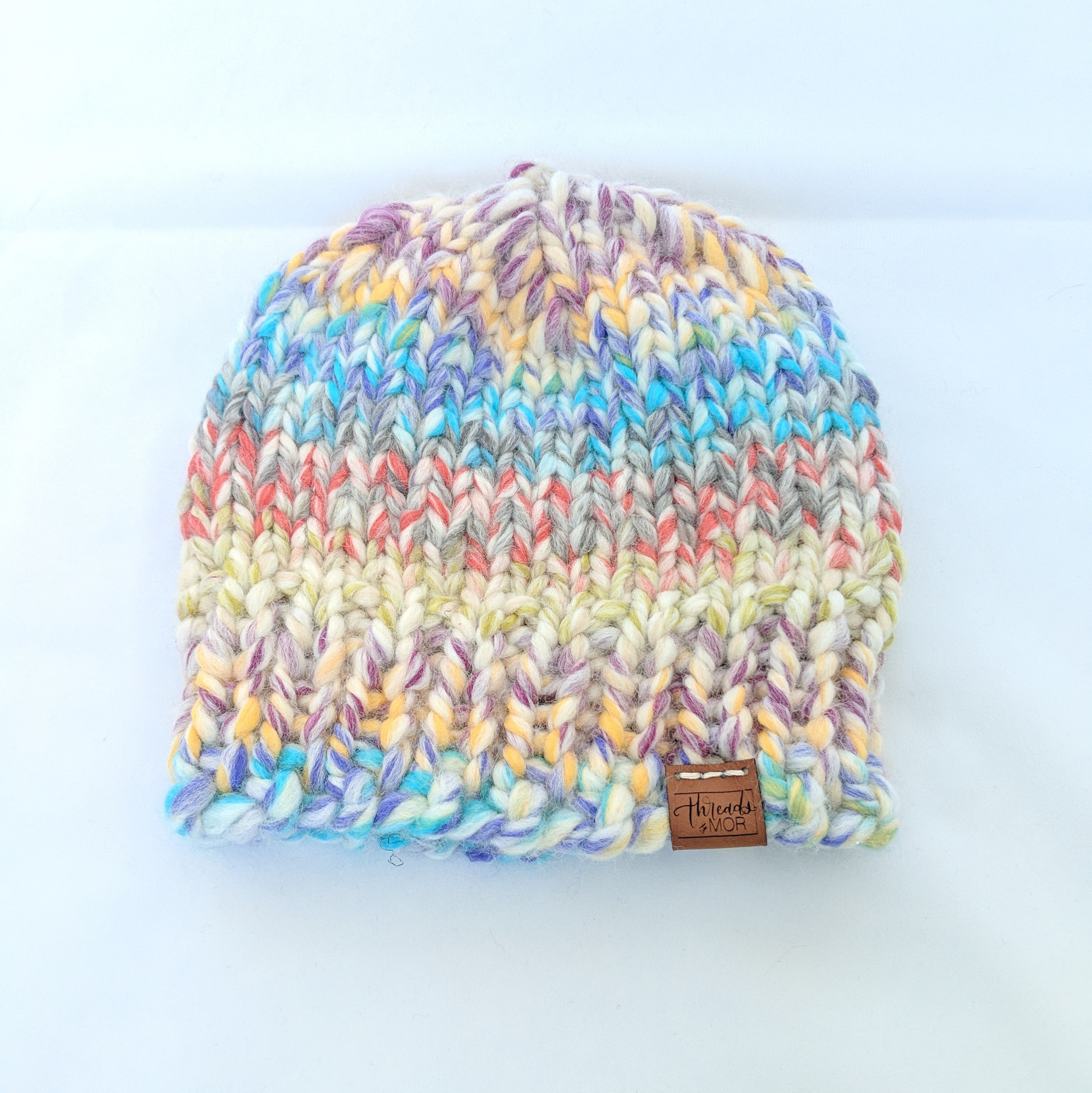 Cotton candy single brim ribbed knit hat