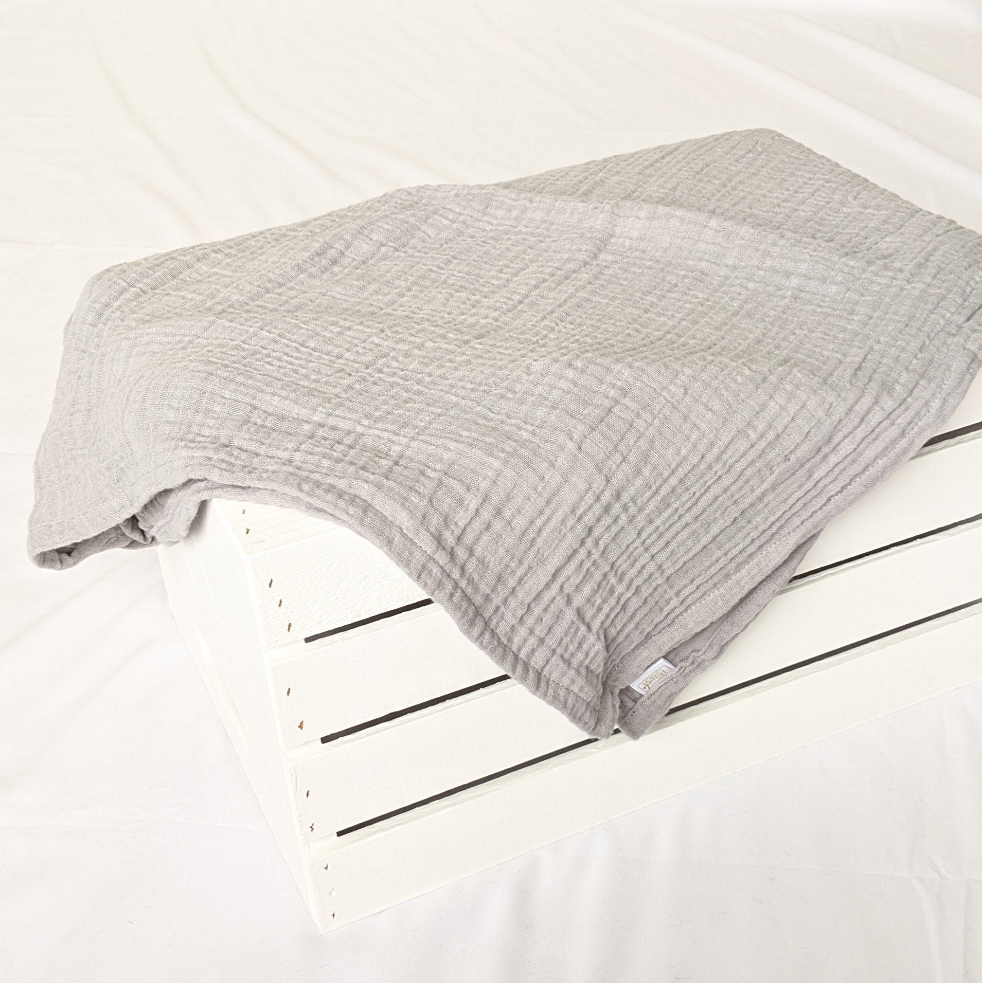 Extra Large Gray Muslin Blanket