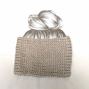 Gray Twist Ear Warmer / Headband