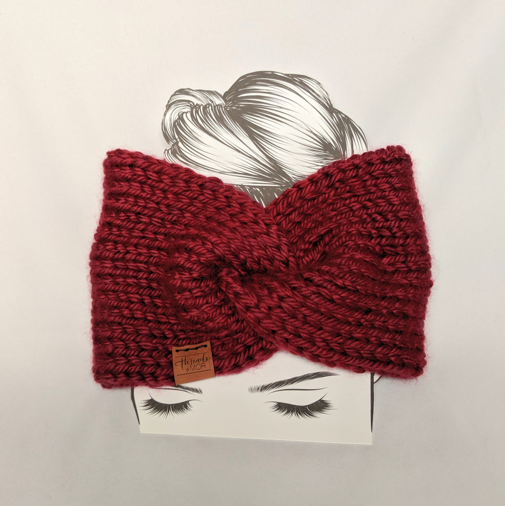 Maroon Twist Ear Warmer / Headband