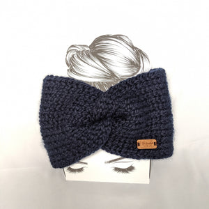 Navy Twist Ear Warmer / Headband