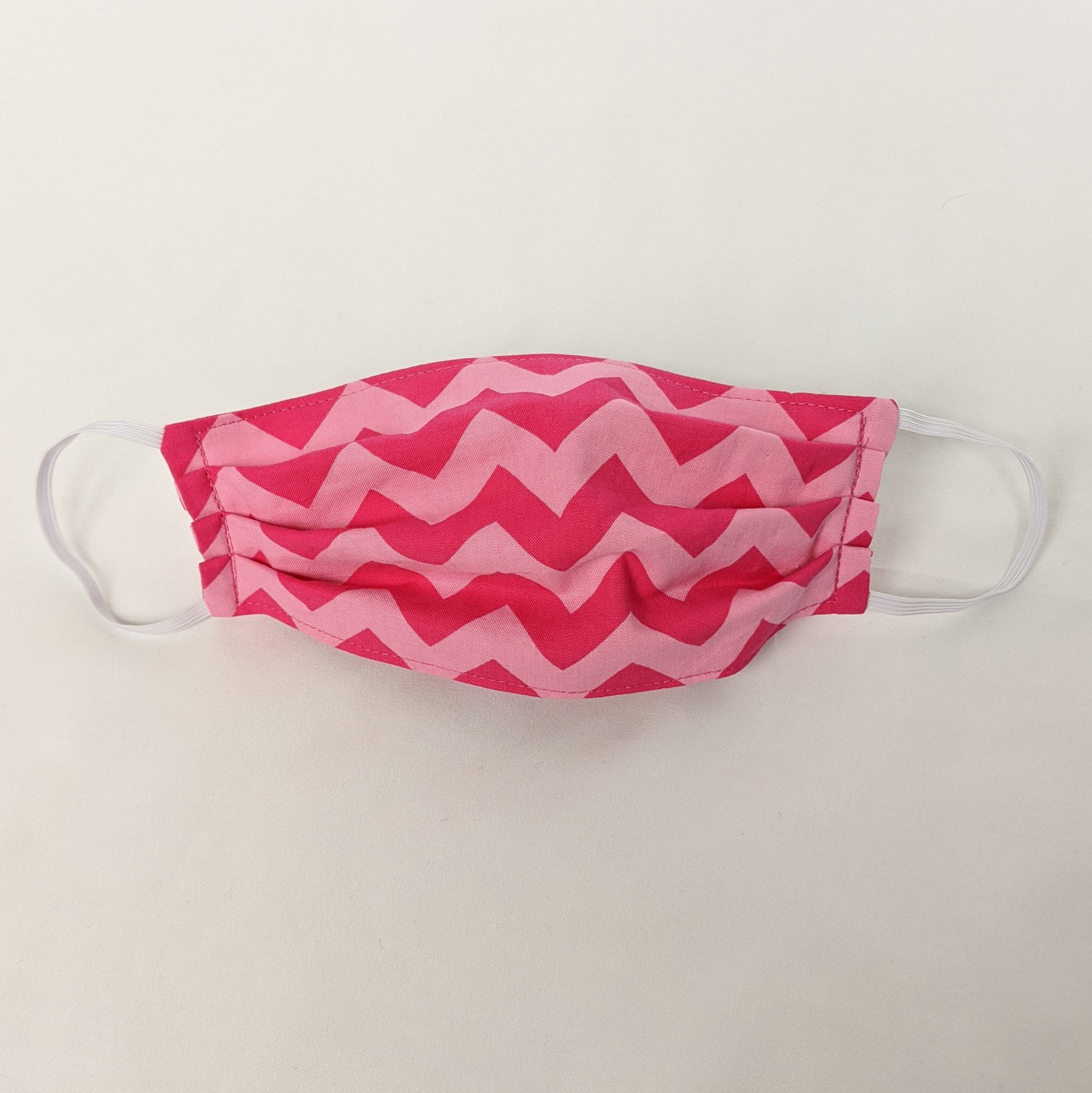 Pink Chevron Face Mask