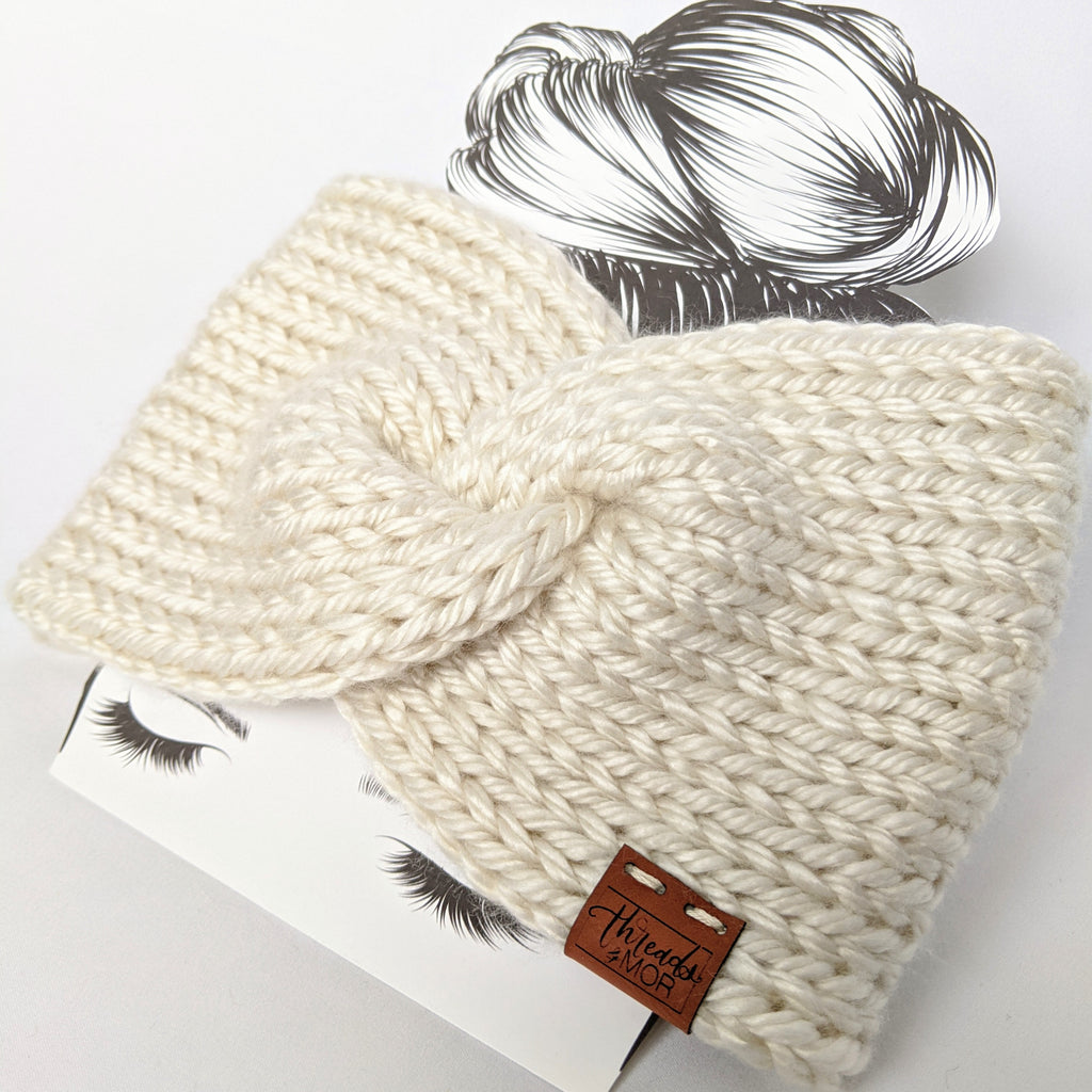 Cream Twist Ear Warmer / Headband