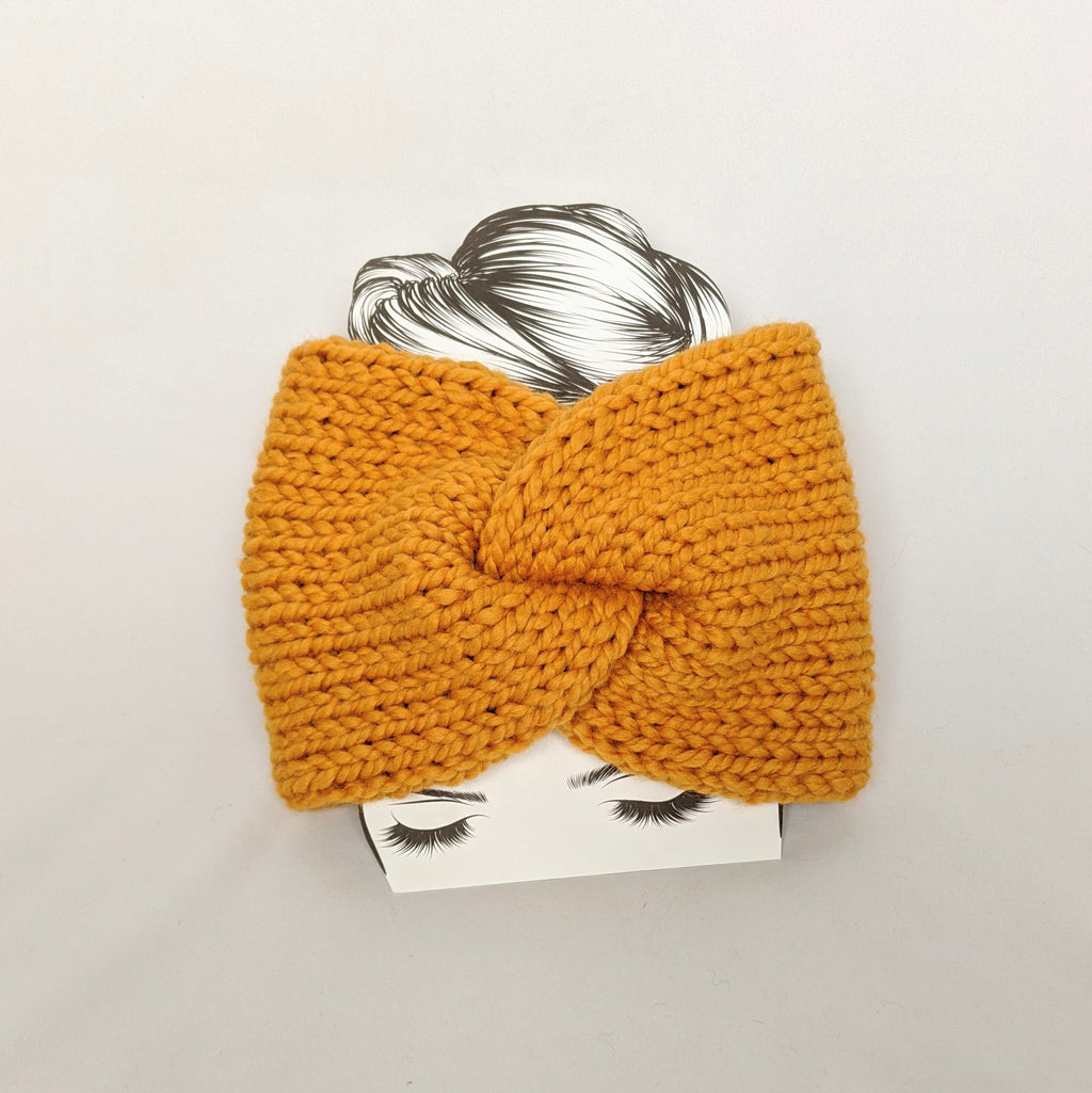 Mustard Twist Ear Warmer / Headband