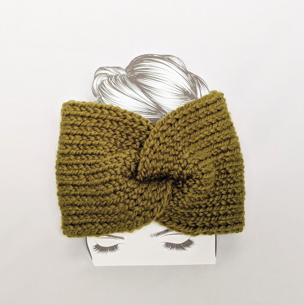 Green Twist Ear Warmer / Headband