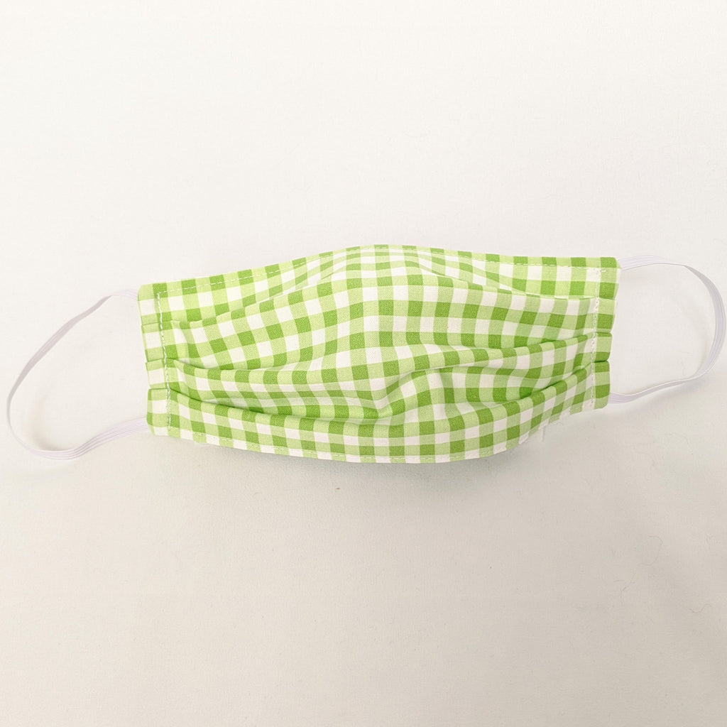 Lime Green Gingham Face Mask
