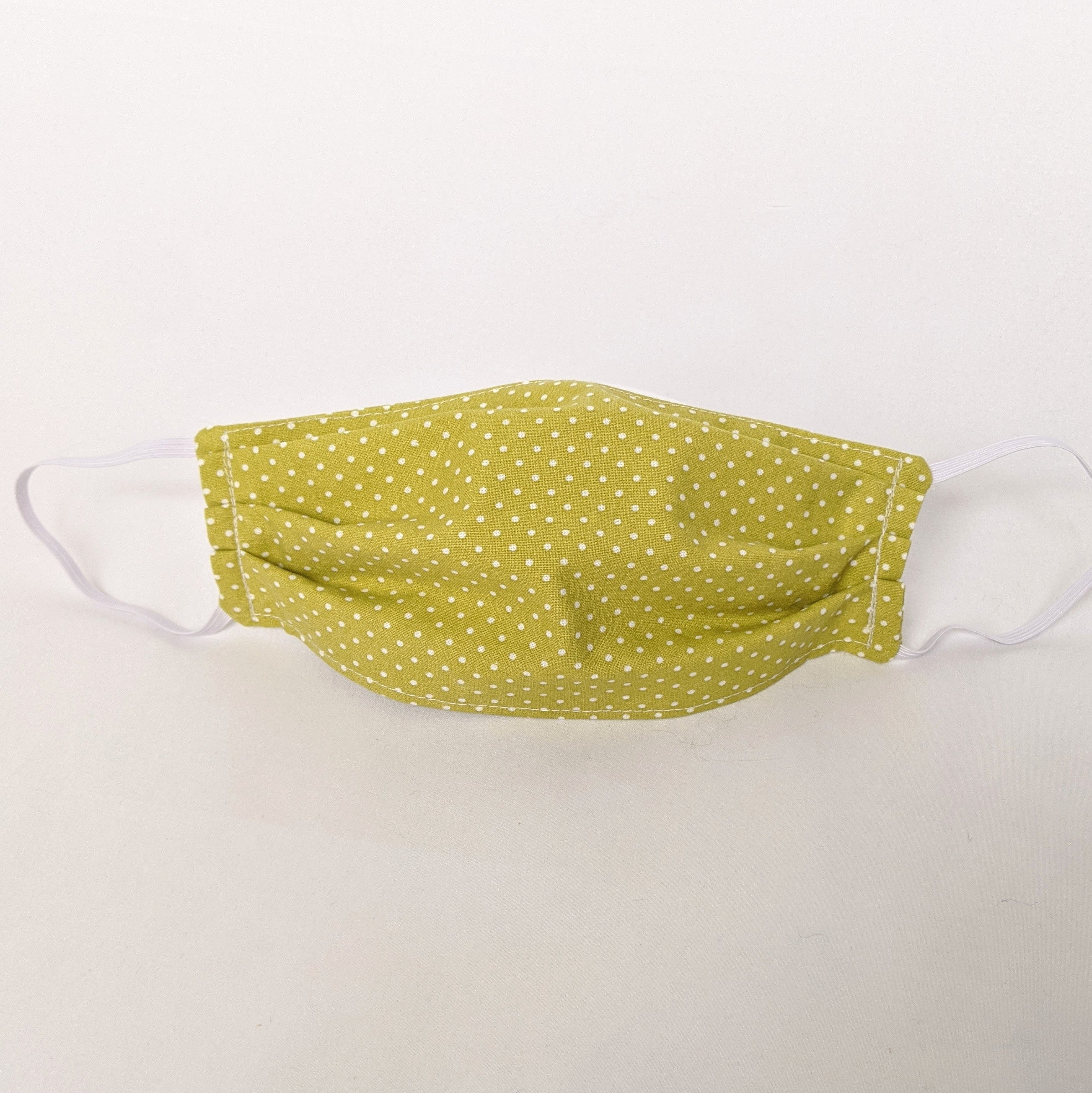Green with Pin Dots Face Mask