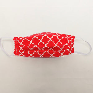 Red Lattice Face Mask
