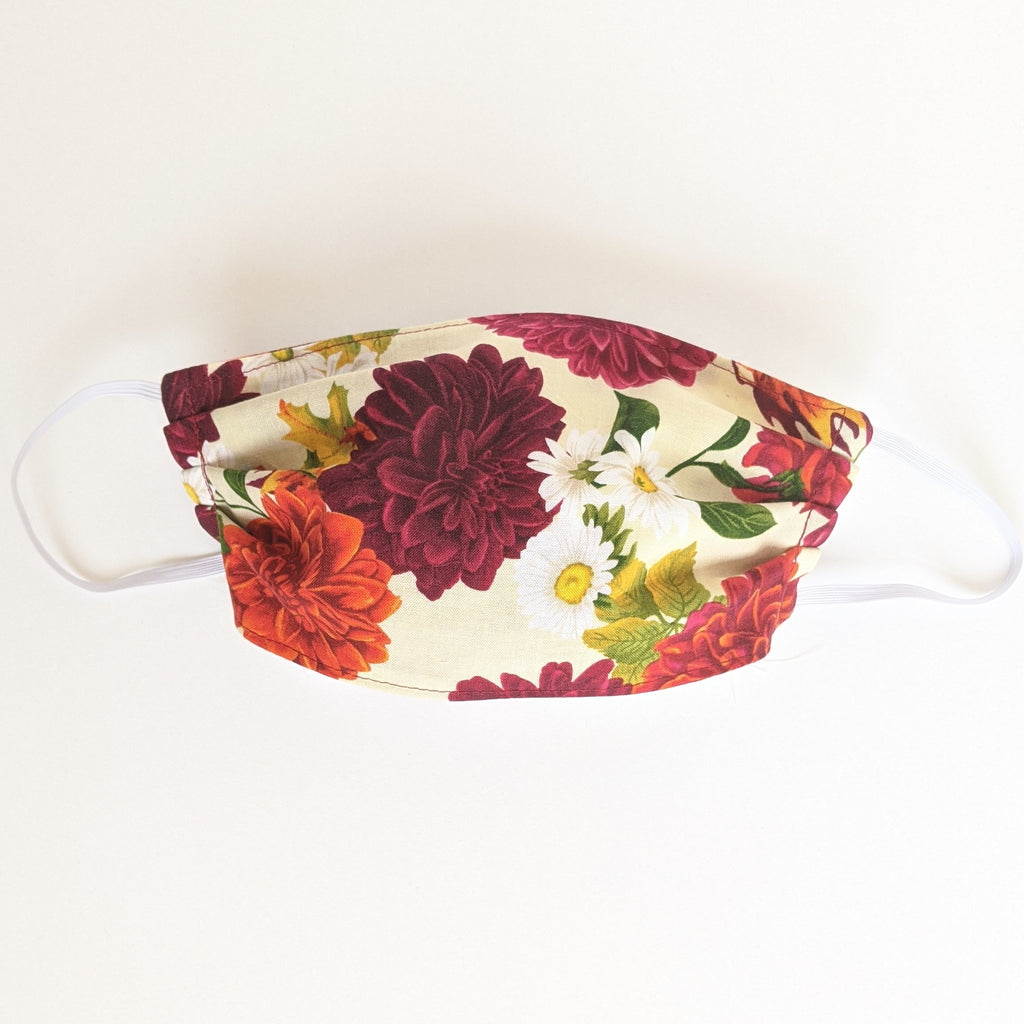 Fall Floral Face Mask