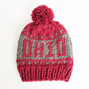 OHIO Script Knit Beanie Hat