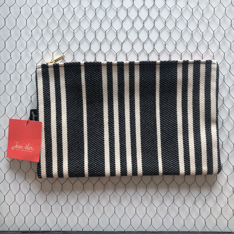 "Zippered clutch bag ""Black and white"" by Jean-Vier ""Pochette"""