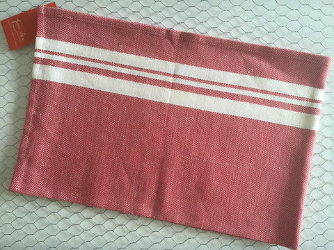 "French Linen/Cotton traditional tea towel ""Red"" by Jean-Vier"