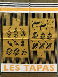 "French Jacquard tea towel by Jean-Vier ""Tapas"" large"