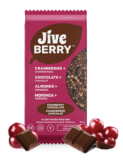 JiveBerry Cranberry-Chocolate local nutrition bar with fruits