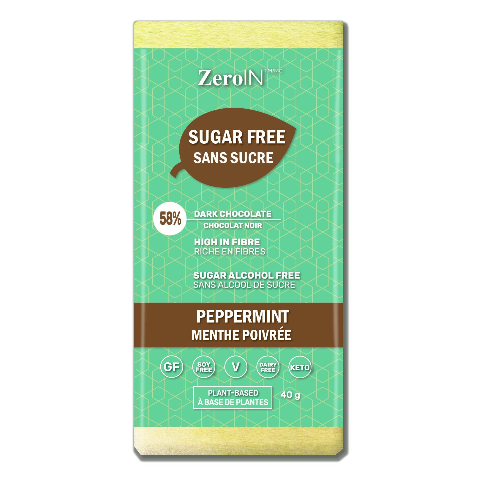 Peppermint Dark Chocolate - Sugar Free, Low Carb