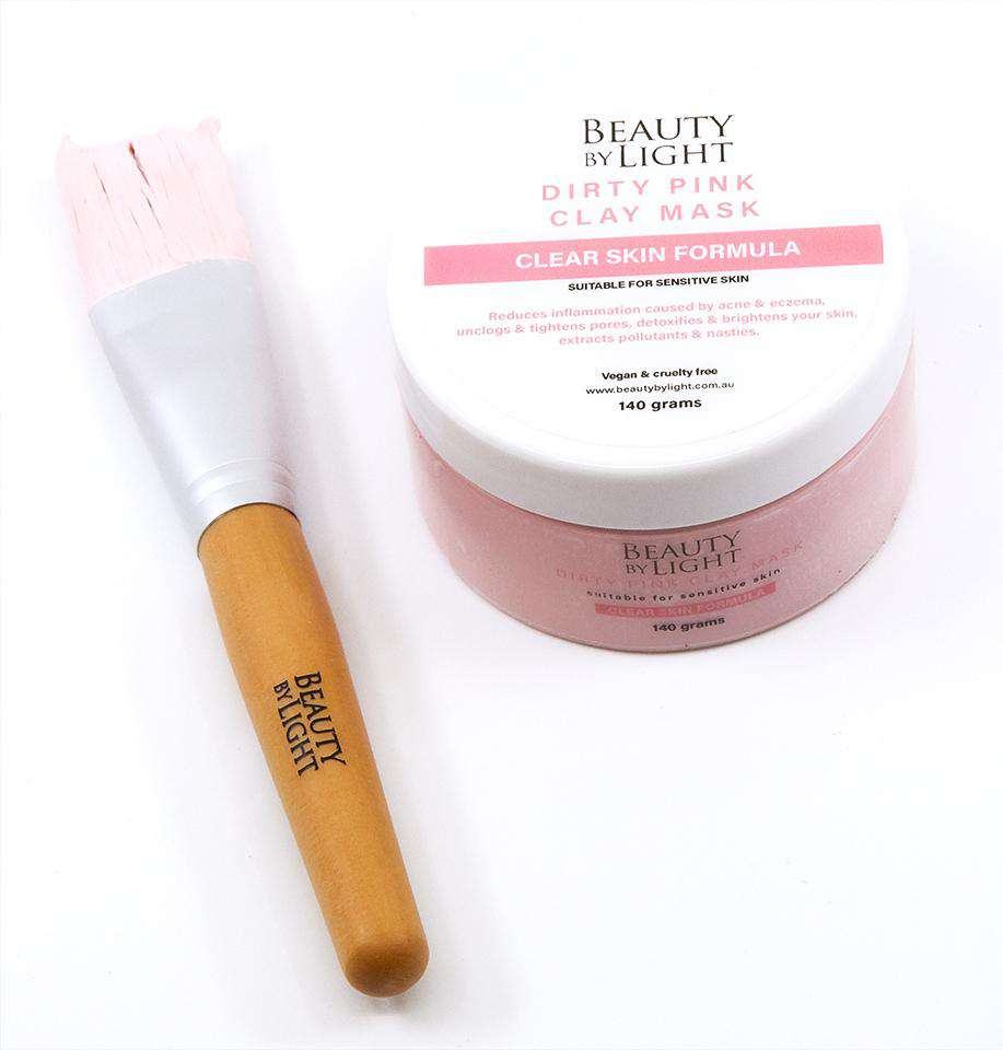 Pink Clay Mask  & Application Brush - 140 grams