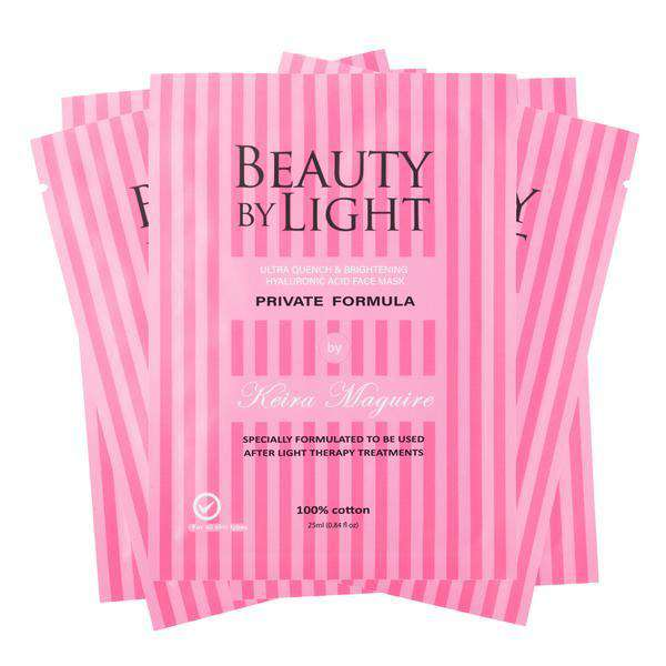 Brightening & Hydrating Cotton Face Mask - 5 Pack