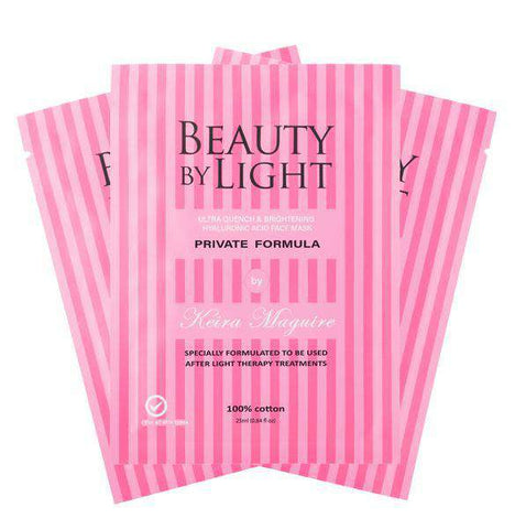 Brightening & Hydrating Cotton Face Mask - 3 Pack