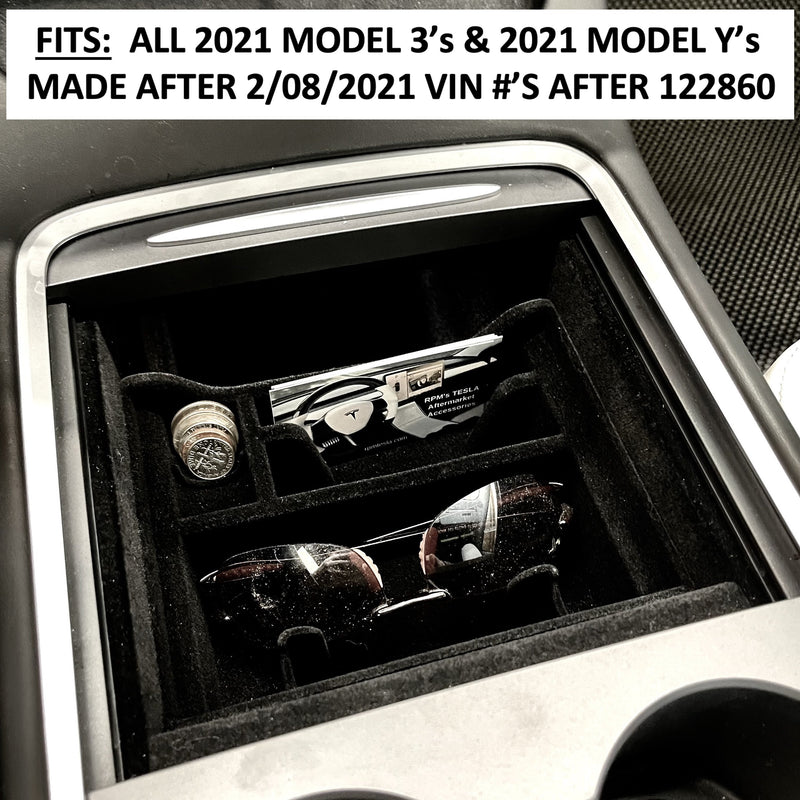 Model 3 2021 & Model Y 2021 Post Jan 2021-  Console Half Size Sliding Tray  - $25
