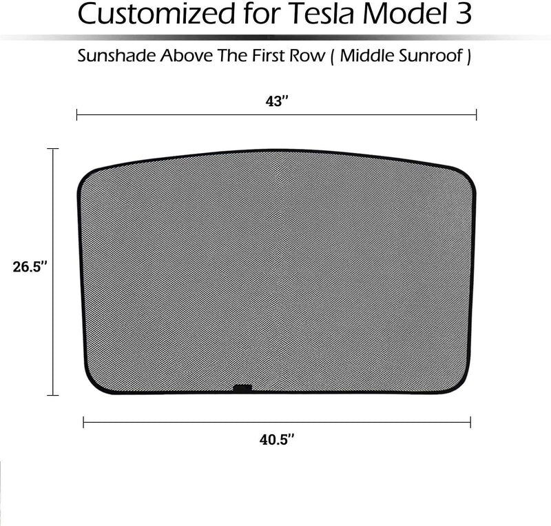 Model 3 Sunroof Sunshade Screen Only $39 with 20% Off