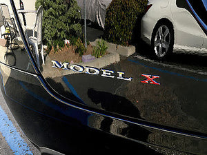 Model X Tailgate X Logo (Various Colors)