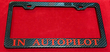 Personalized Carbon Fiber License Plate Frame