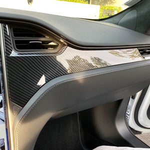 Model S & X Dashboard & Console Carbon Fiber Conversion Kit - ($279-$389)