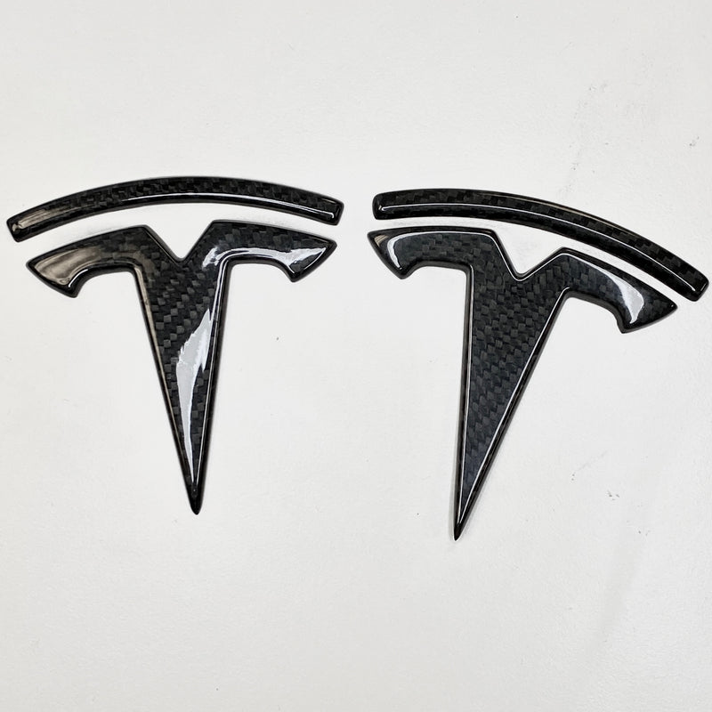 Model 3 Carbon Fiber Molded T Logo Caps from $99 (1 Front & 1 Rear)