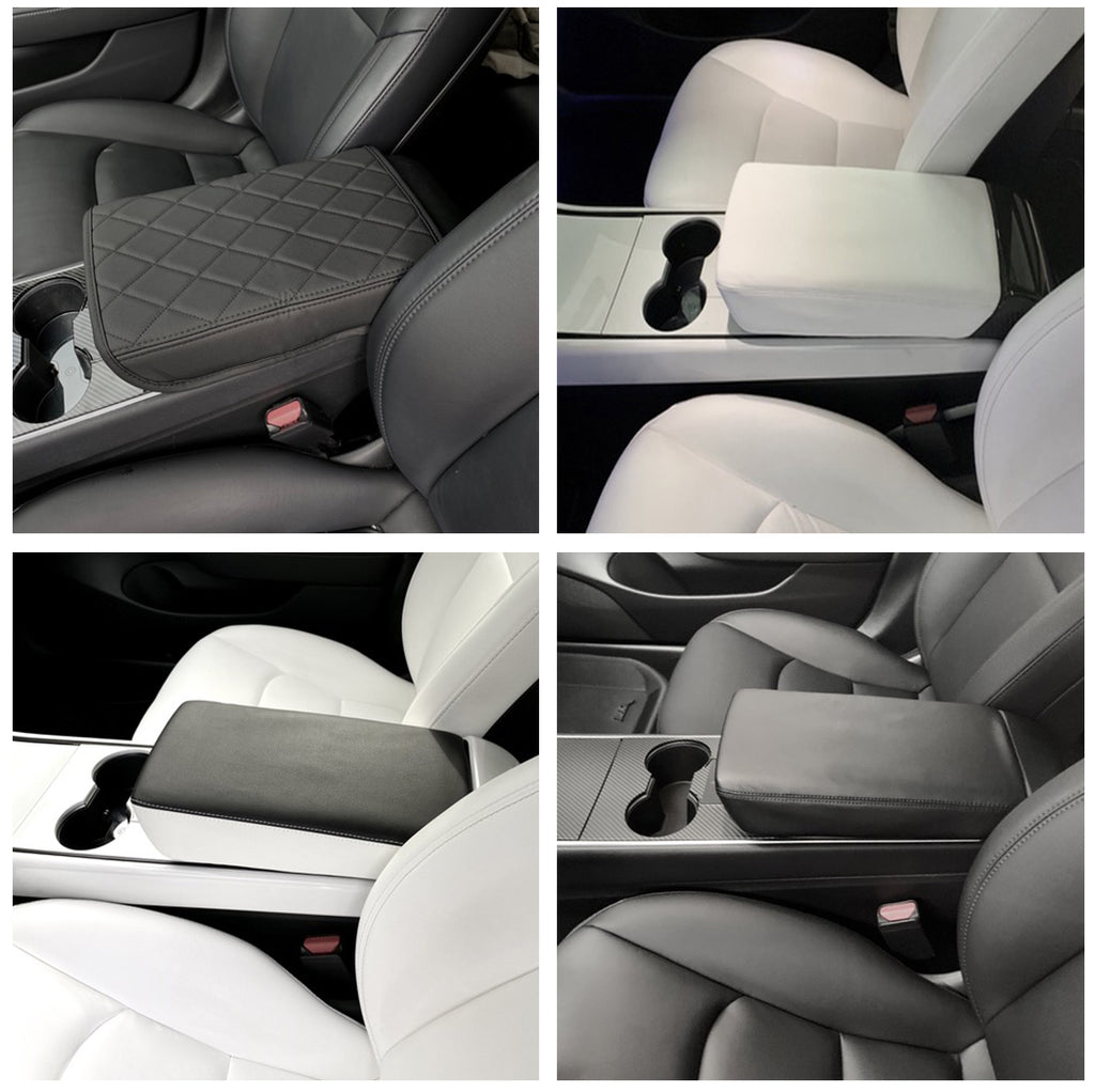 Model 3 & Y Padded Leather Armrest Covers Gen. 2 - Only $39