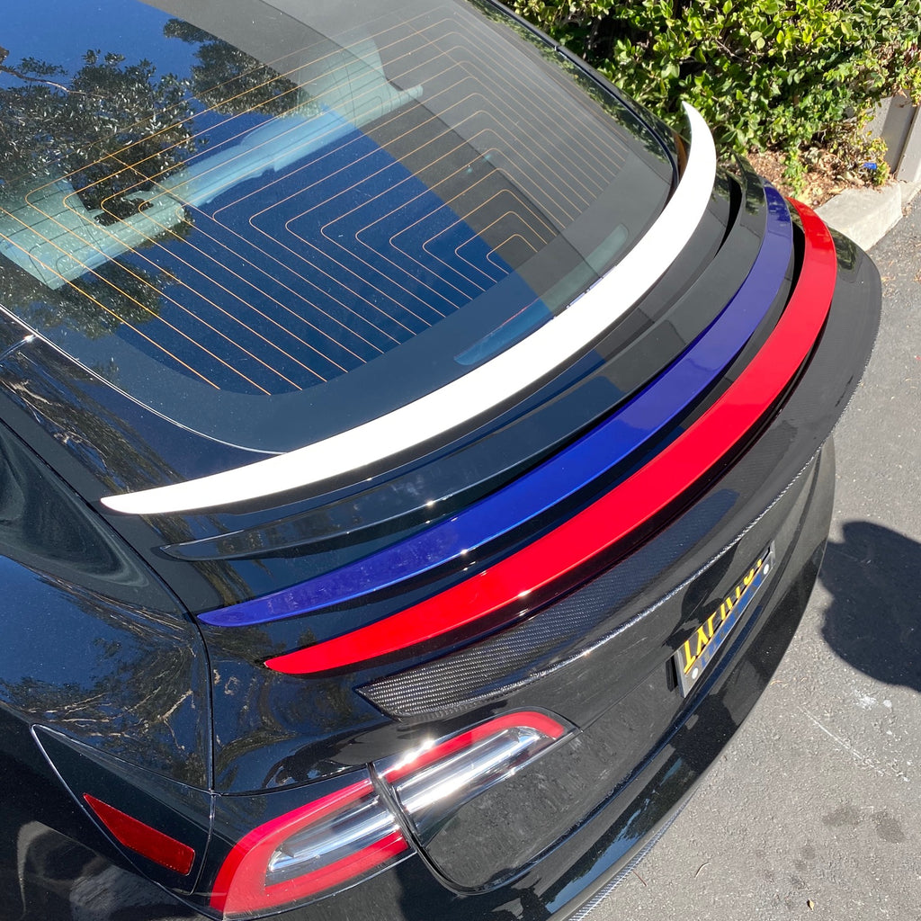 Model 3 Performance Spoiler Painted ABS Plastic - Black, Blue, or White - $149