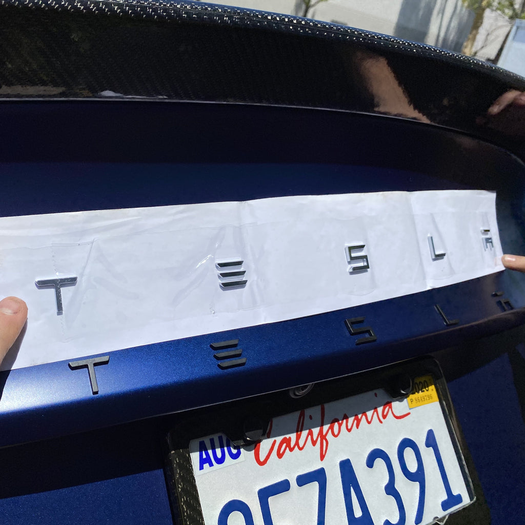 T-E-S-L-A Tailgate Emblems for Model 3 & Y - $24 with 20% Off
