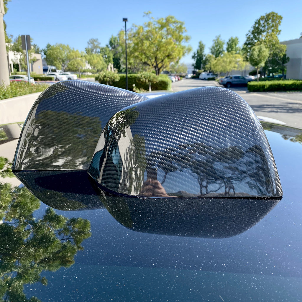 Model Y Carbon Fiber Mirror Caps From $189 (1 Pair)