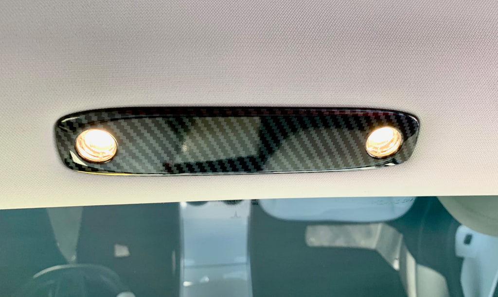 Model 3 & Y Dome Light Covers - Front & Rear Carbon Fiber Coated (Only $29 w/ 20% OFF)
