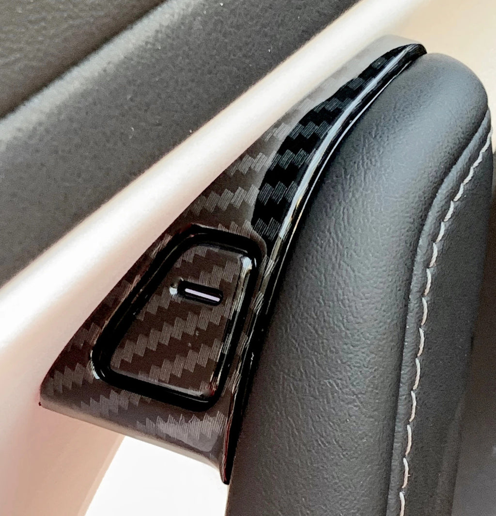 Model 3 & Y Upper Door Switch Covers - Carbon Fiber Coated - $49 w/ 20% OFF