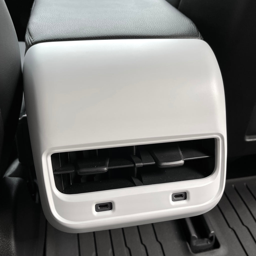 Model 3 & Y Backseat Vent Cover - Matte White from $39
