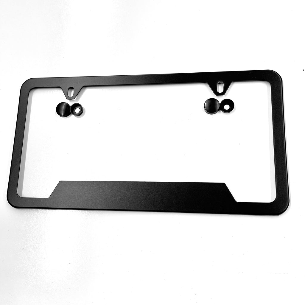 Satin Black Aluminum License Plate Frame - From $19